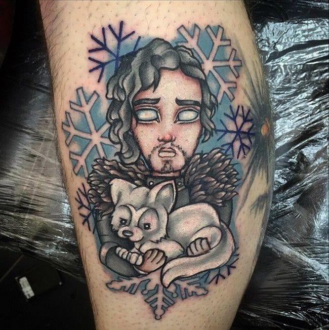 Jon Snow tattoo by Chris Hatch