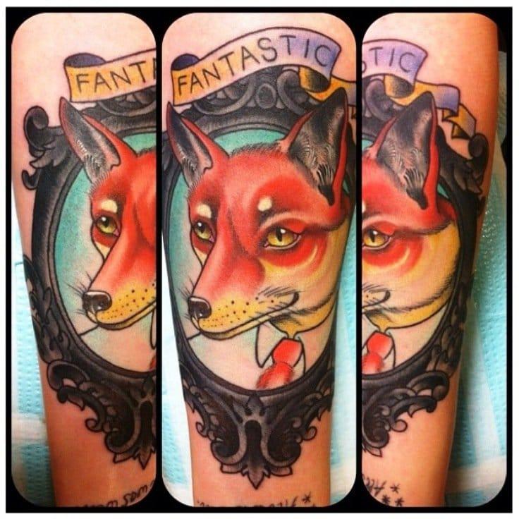 Fantastic Mr. Fox tattoo by by Colin McClain