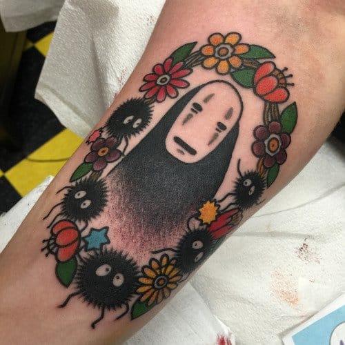 No-Face tattoo by myraoh