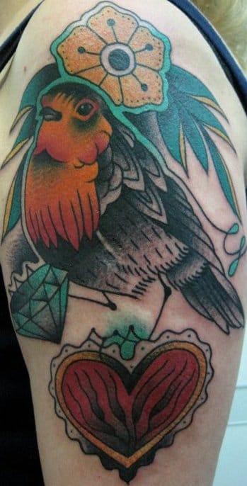 Great Robin Tattoo by Francesco Garbuggino
