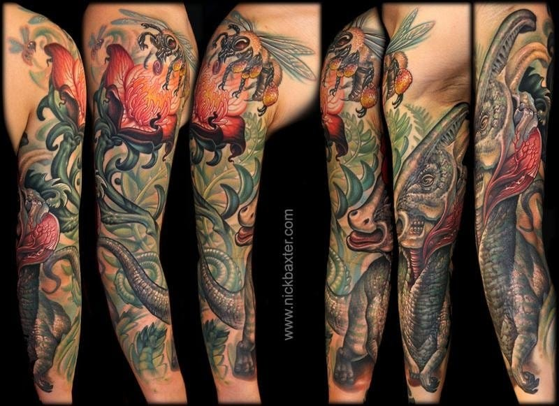 Parasarolophous, sleeve done by Nick Baxter