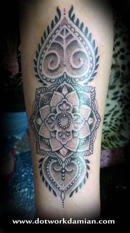 Mandala tattoo by Dotwork Damian #mandala #DotworkDamian
