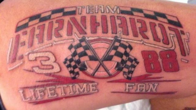 Asselin's Team Earnhardt Tattoo