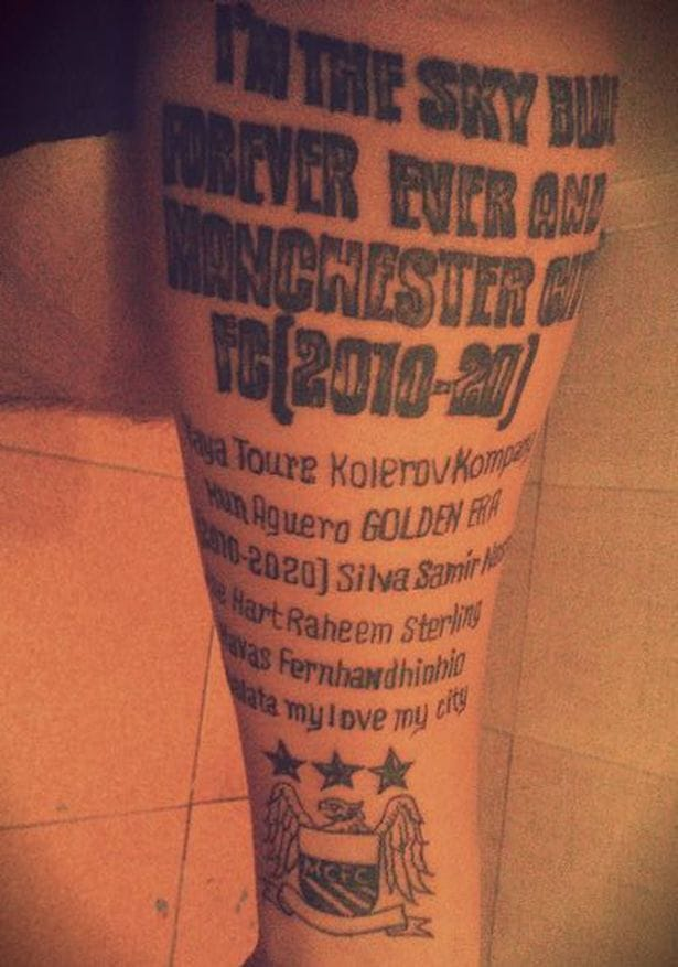 Manchester City Fan Tattoo