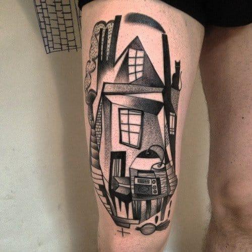 Abstract Tattoo by Peter Aurisch