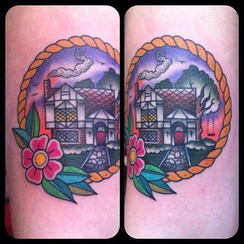 Tudor House Tattoo by Guen Douglas