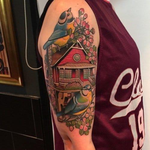 Home Tattoo by Matt Adamson