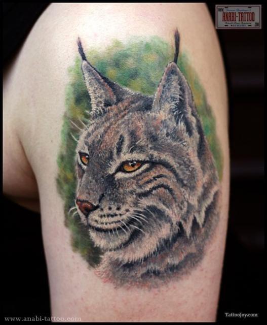 Amazing Lynx Tattoo by Anabi Tattoo