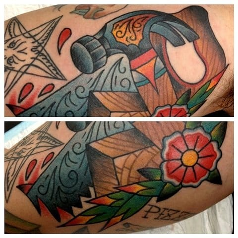 12 Awesome Hammer Tattoos