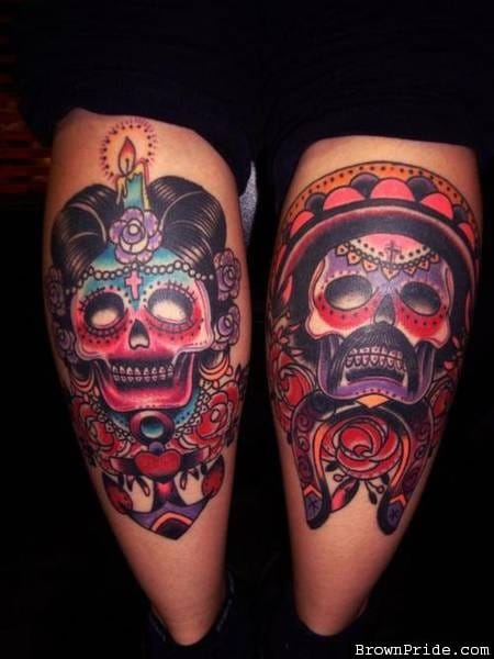 Sugar skulls look beautiful because of the unique and colorful details on each of them.