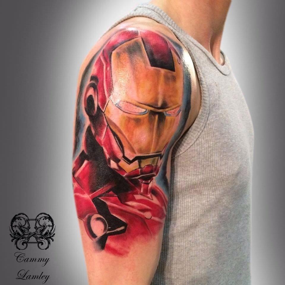 Iron Man Half-sleeve by Cammy Lamley