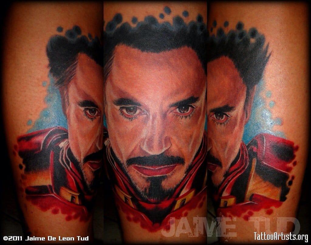 Tony Stark by the awesome Filipino tattooer, Jaime Tud