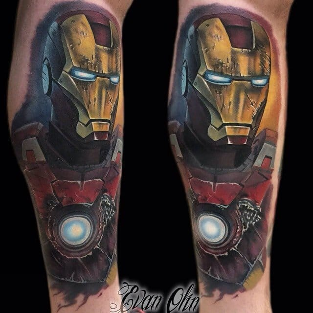 Battle damaged Iron Man suit by Evan Olin