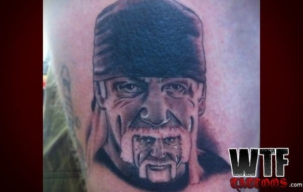 Funny tattoo of the Hulk Hogan photo that was viral in social media, crazy but solid tattooing though!