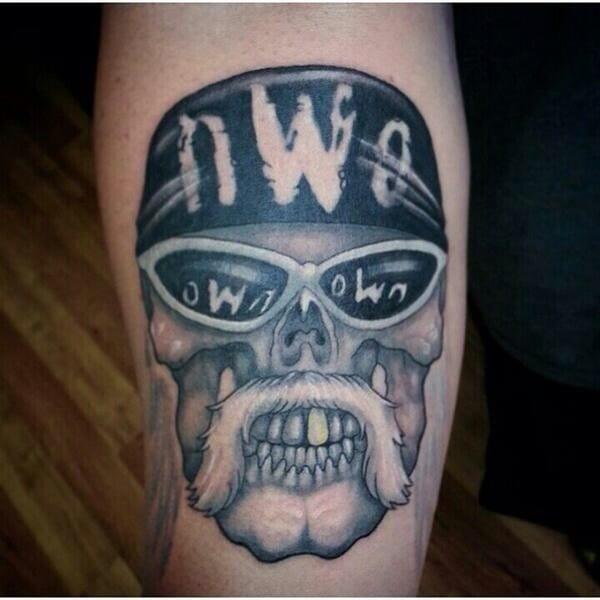 NWO Hulk Skull tattoo