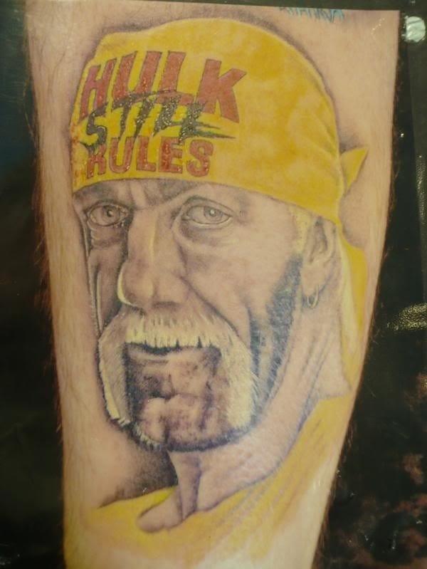 Hulk portrait tattoo, looking ok!
