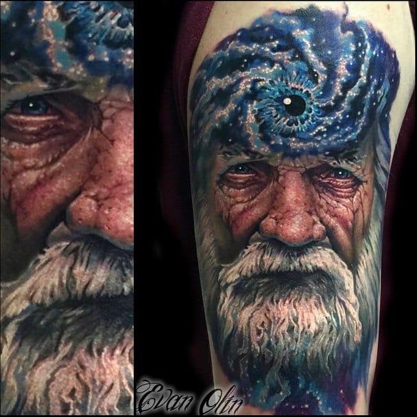 Cosmic Consciousness tattoo by Evan Olin