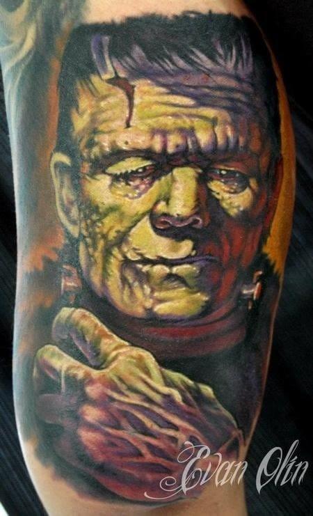 Frankenstein Tattoo by Evan Olin