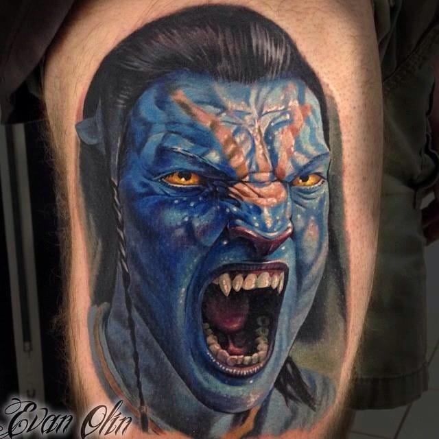 Avatar Tattoo by Evan Olin