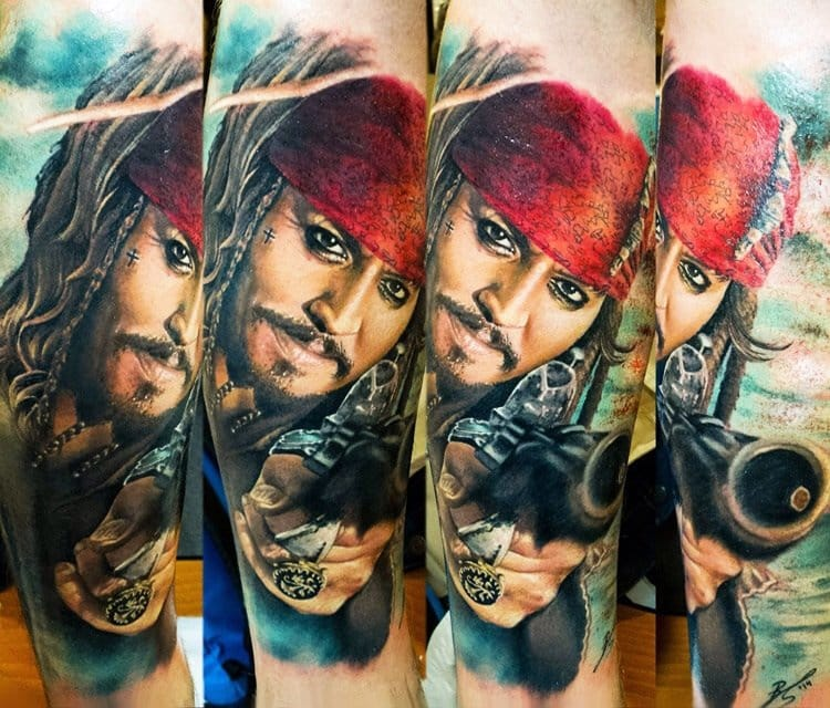 13 captain jack sparrow tattoos tattoodo for Captain jack sparrow tattoo