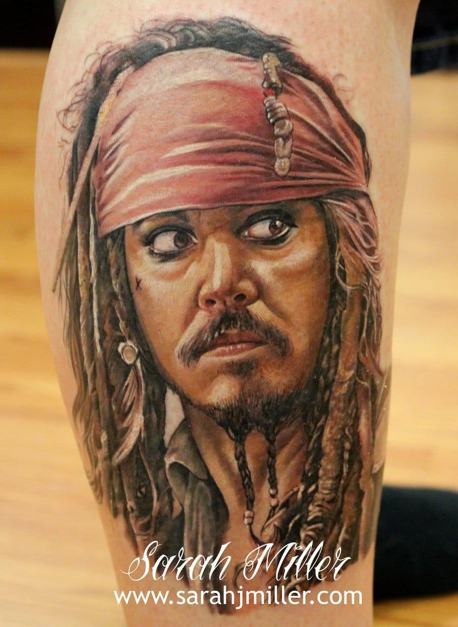 captain jack sparrow tattoo by Sarah Miller