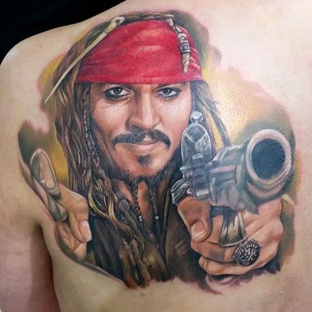 johnny depp as captain jack sparrow tattoo