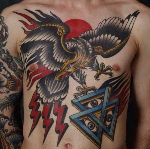 Traditional Style Eagle tattoo