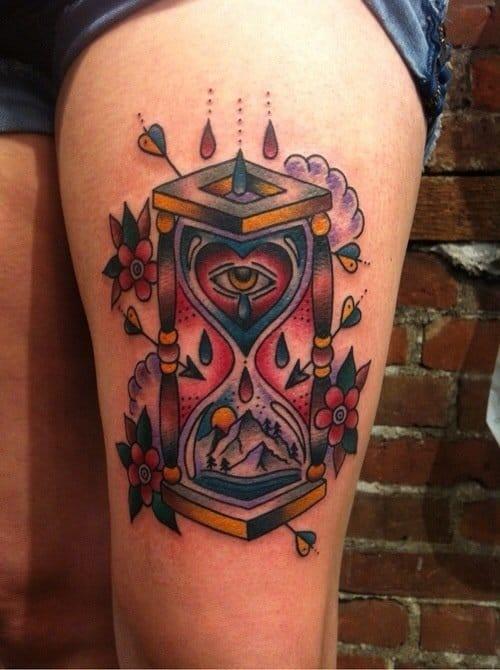 Timeglass tattoo