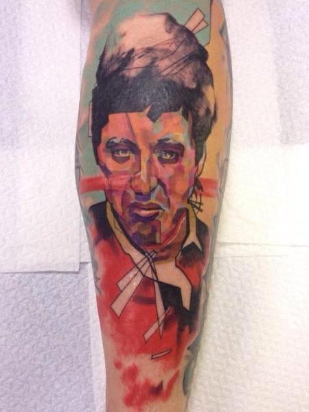 Al Pacino Tattoo by Voller Konstrat