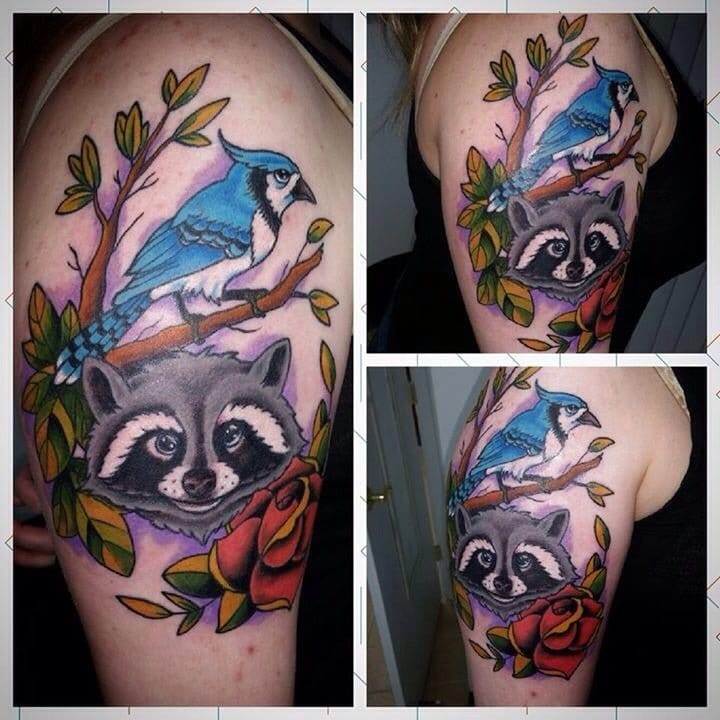 Rigby and Modecai, Regular Show inspired tattoo