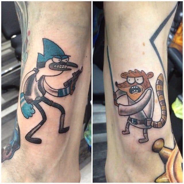 Regular Show inspired tattoo, Star Wars tattoo