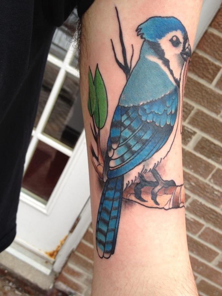 Regular Show inspired tattoo, Mordecai tattoo