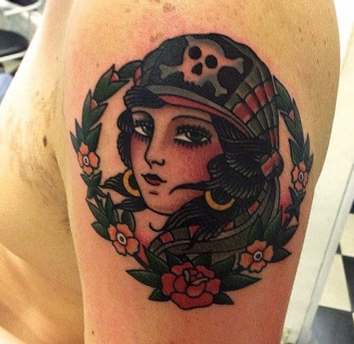 18 Captivating Pirate Girl Tattoos