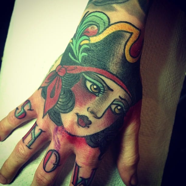 Awesome Hand Tattoo by Alix Ge