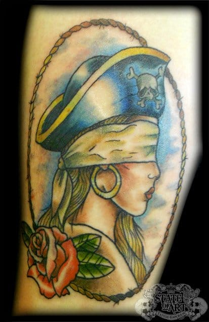 Pirate Lady Tattoo by State of Art Tattoo