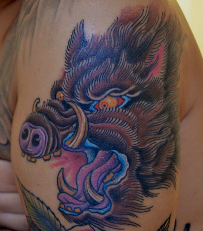 Boar tattoo