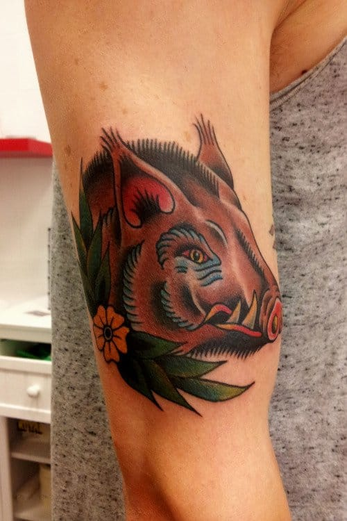 Boar Tattoo by Mauro Quaresima