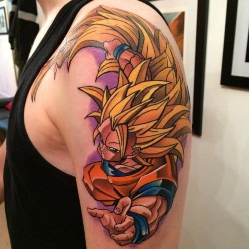 Superclean Super Saiyan Goku tattoo