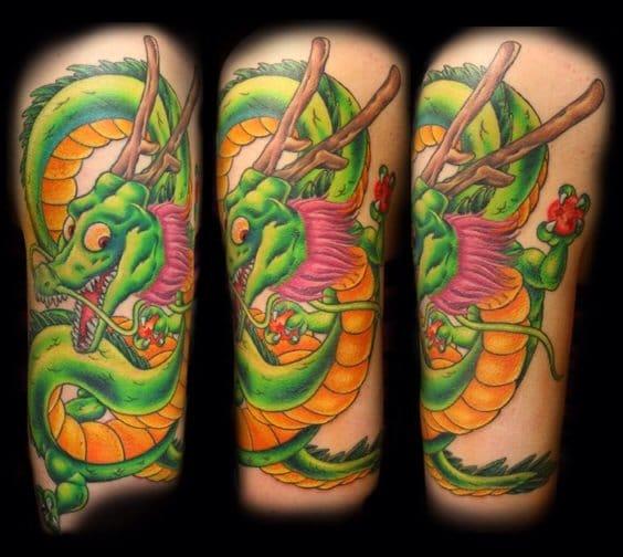 Shenron holding the Dragon Balls