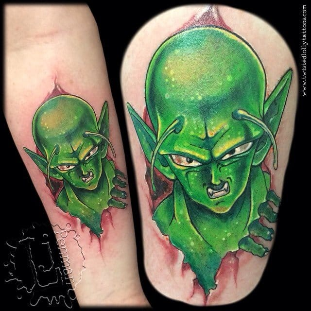 Crazy Piccolo tattoo coming out of the skin!