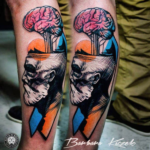 Abstract tattoo by Barbara Kiczek