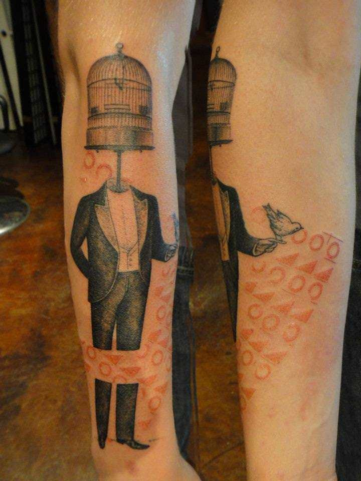 Free your mind with creative tattoos such as this one by Xoil.