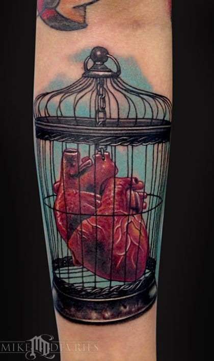 Never tame your heart! Tattoo by Mike DeVries.