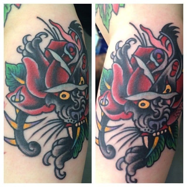 8 Awesome Panther Rose Morph Tattoos