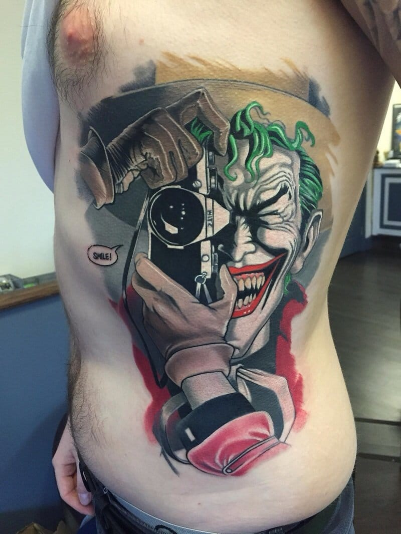 8 Crazy Joker Tattoos That Aren't Heath Ledger