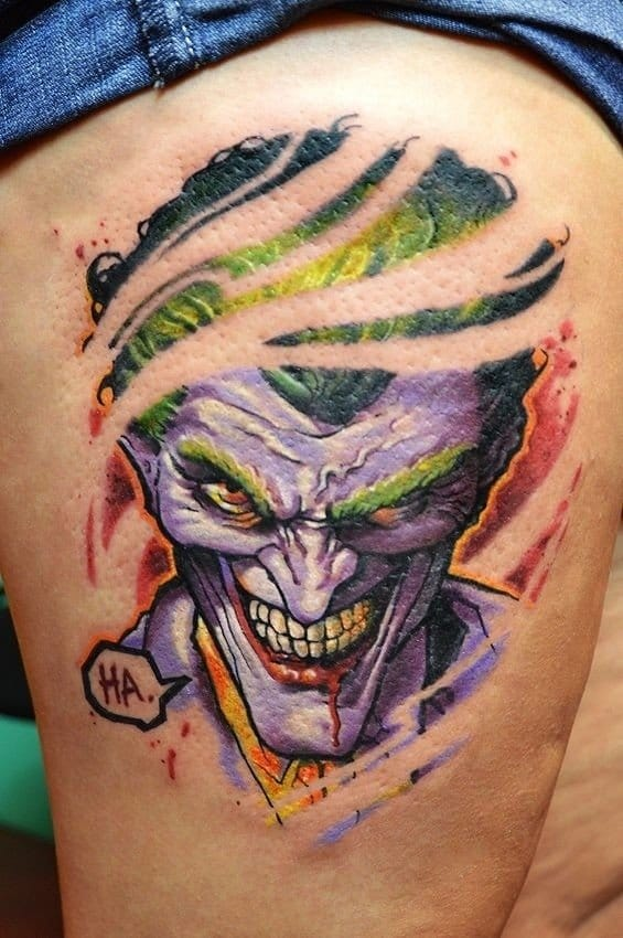 Awesome color saturation, Joker Tattoo