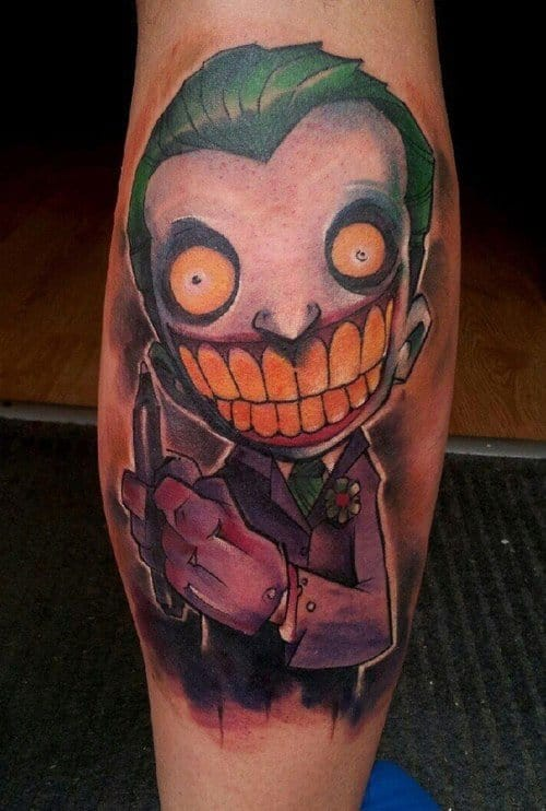 Really cool new school feel, Joker Tattoo