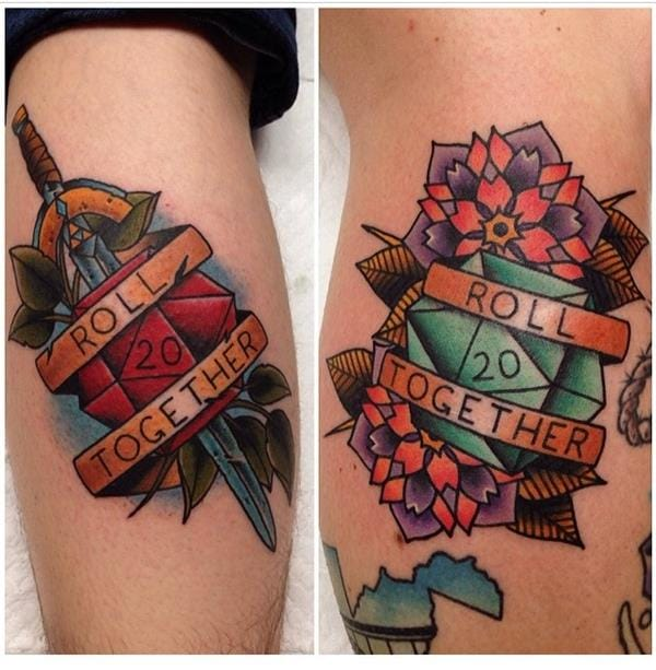 15 matching tattoos for all the inked up lovers tattoodo for His and her matching tattoos