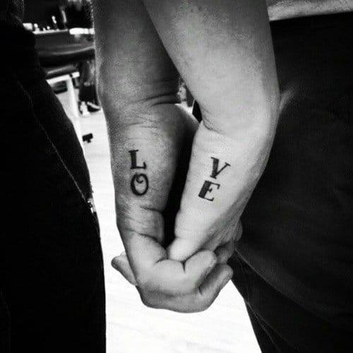 Matching Tattoo, LO-VE, love tattoo