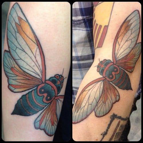 Matching Bug Tattoo by Raymond Wallace